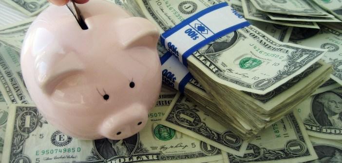 Piggy bank budget money