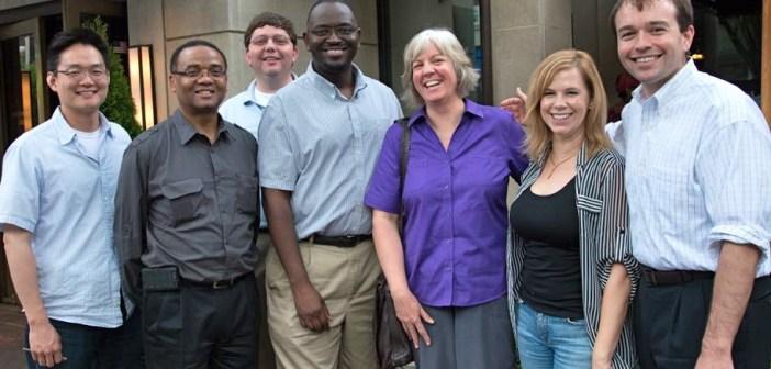 Pastor Saliba with classmates