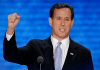 Rick Santorum fist up