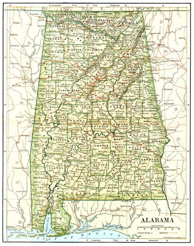 BirminghamHoover Listed Among Most American Cities In AL - Map of alabama cities