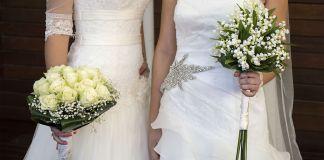 Lebian same sex wedding