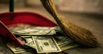 Money in trash_spending