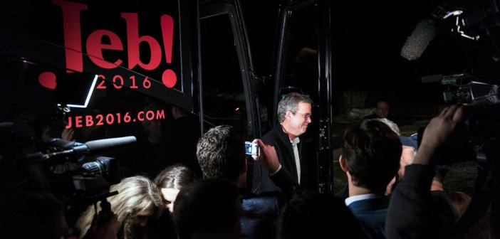 Jeb Bush campaign bus