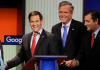 Republicans in Debate_Jeb Bush Chris Christie Marco Rubio Ted Cruz