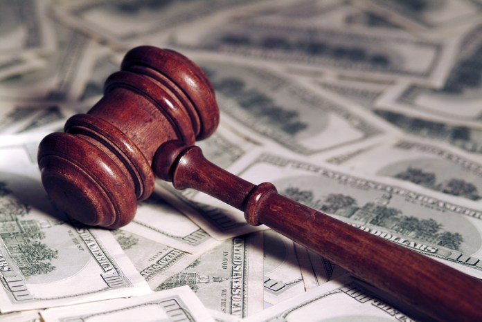 money gavel court lawsuit