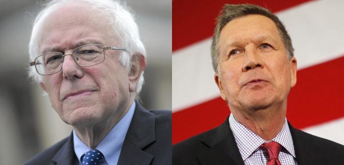 Bernie Sanders and John Kasich