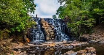 Waterfall at Chewacla State Park new Auburn Alabama