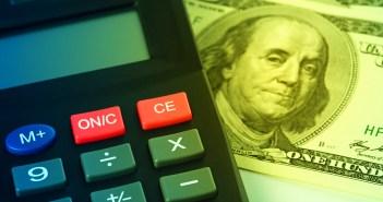 balanced budget—calculator money