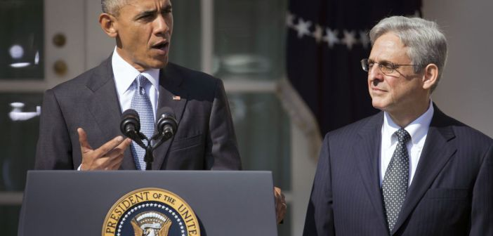 Barack Obama and Merrick Garland