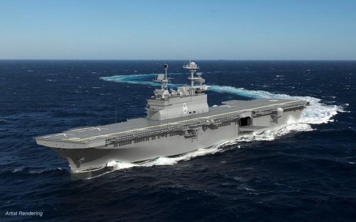 Rendering of Ingalls Shipbuilding of Navy LHA-8