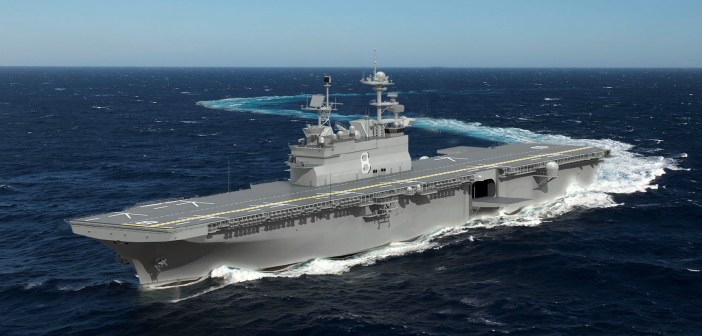 Rendering of Ingalls Shipbuilding of Navy LHA-8