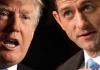 Donald trump and Paul Ryan split