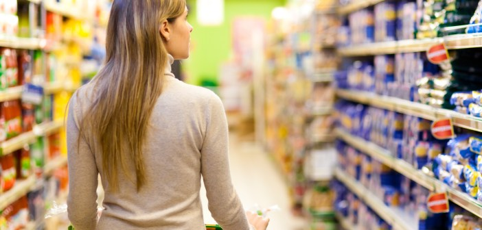 woman shopping at grocery store supermarket