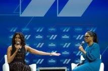 Michelle Obama and Oprah Winfrey