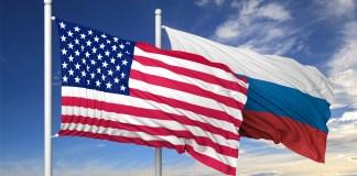 Russia USA flags