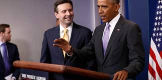 Barack Obama and Josh Earnest