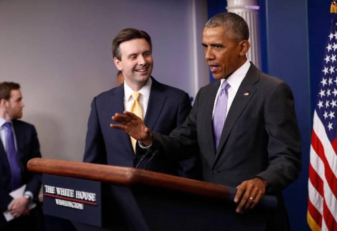 Barack Obama and Josh Earnest