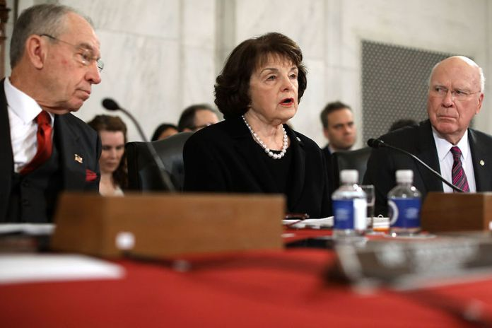 Chuck Grassley, Dianne Feinstein, and Patrick Leahy