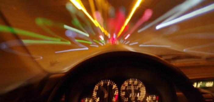 drugged driving blurry road car
