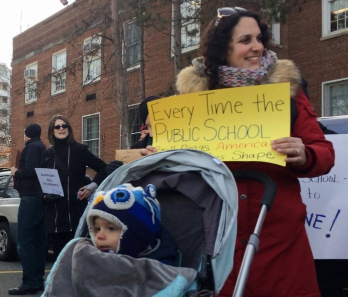 protest Betsy DeVos