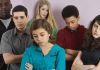 upset teens
