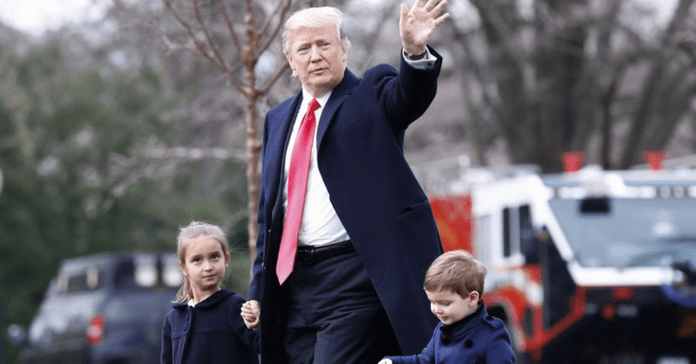 Donald Trump and grandchildren
