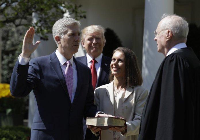 Neil Gorsuch sworn in