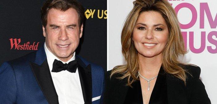 John Travolta and Shania Twain
