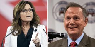 Sarah Palin and Roy Moore