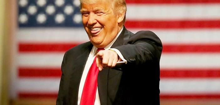 Trump laughing