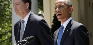 James Comey and Barack Obama