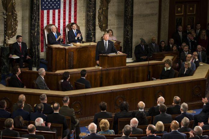 Donald Trump joint Congress 2017