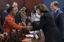 Sen. Dianne Feinstein, D-Calif., and Sen. Richard Blumenthal, D-Conn.