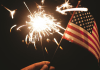 American flag_sparkler