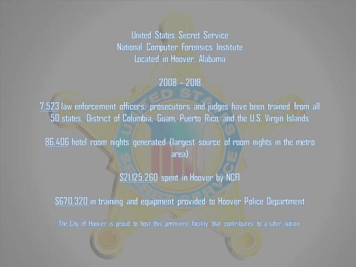 U.S. Secret Service National Computer Forensics Institute_Hoover stats