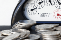electrical utility meter_money