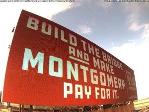 1-10 Mobile River Bridge billboard