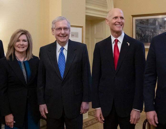 Mitch McConnell, Rick Scott, Marsha Blackburn