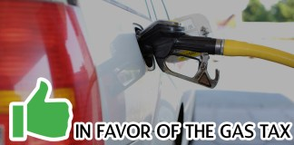 in favor gas tax