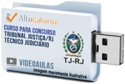 Curso Concurso Tribunal Justiça – RJ – Técnico Judiciário – Videoaulas Pendrive