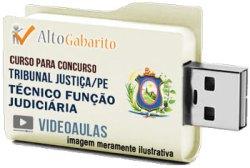Curso Concurso Tribunal Justiça – PE – Técnico Judiciário – Videoaulas Pendrive
