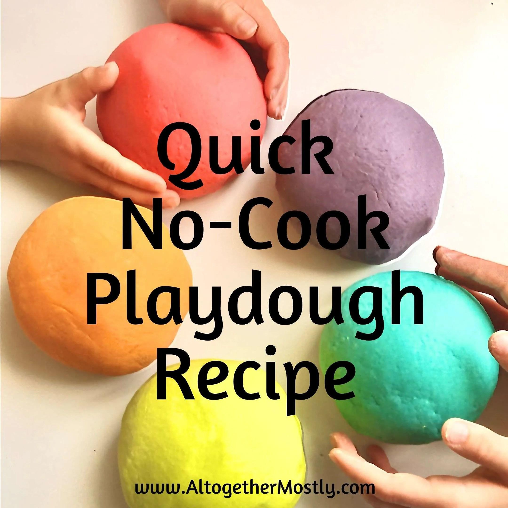quick no-cook playdough recipe