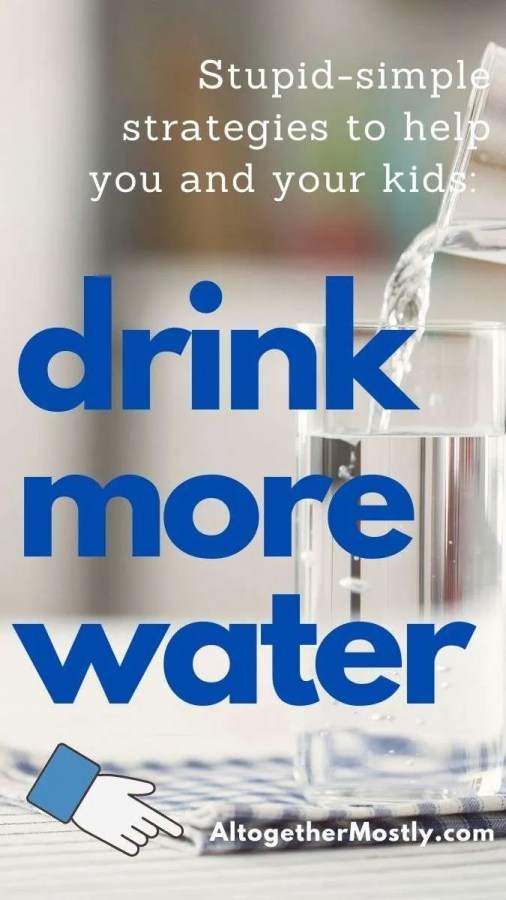 glass of clear water pouring text over lay drink more water guide