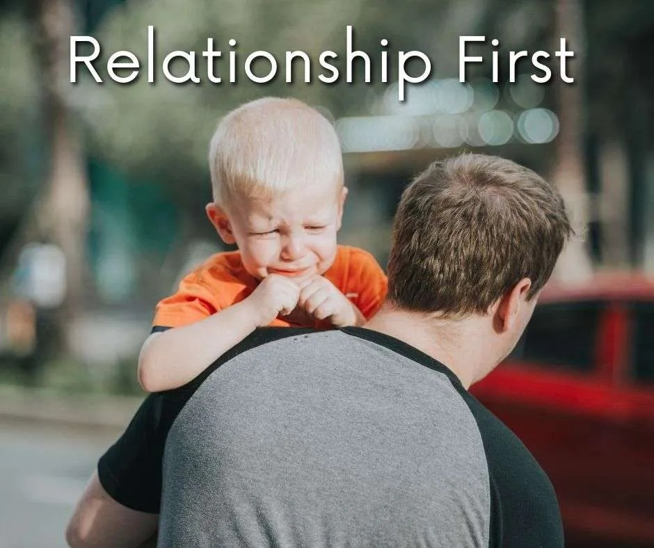 father and toddler difficult behavior needs relationship first