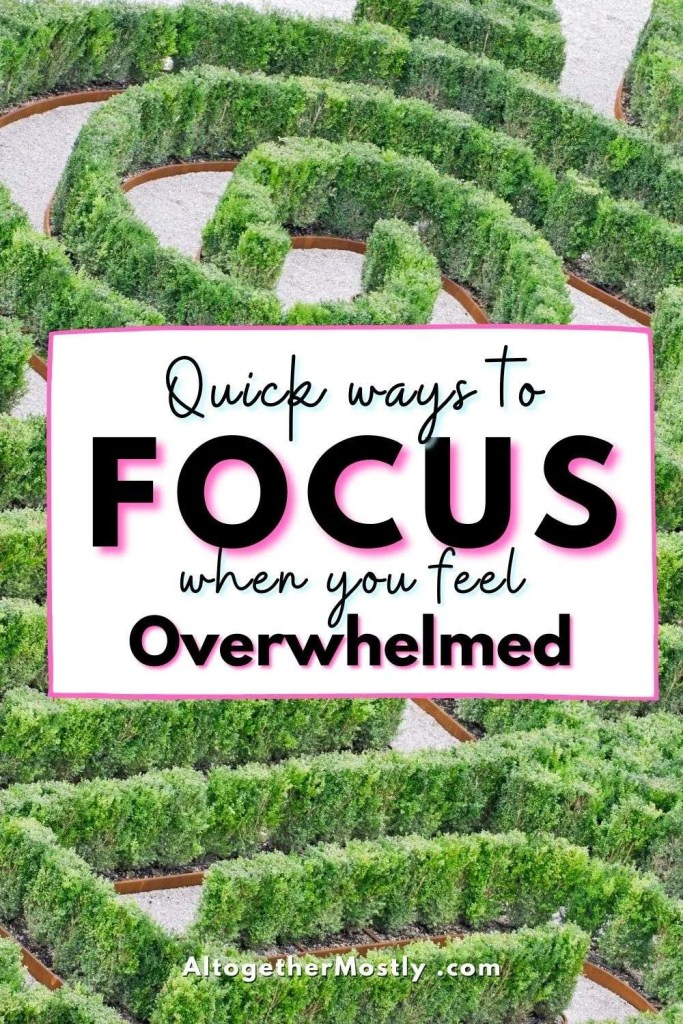 green labyrinth maze text quick ways to focus when you feel overwhelmed
