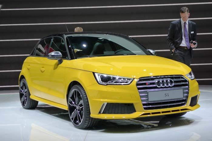 Det måtte jo komme, en S-udgave i Audi A1-serien. Den kompakte 5-dørs S-model står i gul signalfarve og kalder på opmærksomheden. Prissætning og modelsplit for Sportback-udgaven kendes ikke, men den er for den almindelige A1 Sportback fra224.723 til 286.485 kr. og motorprogrammet spænder fra 1,2 TFSI 86 hk til 1,4 TFSI 122/140 hk samt 1,6 TDI 90 hk.