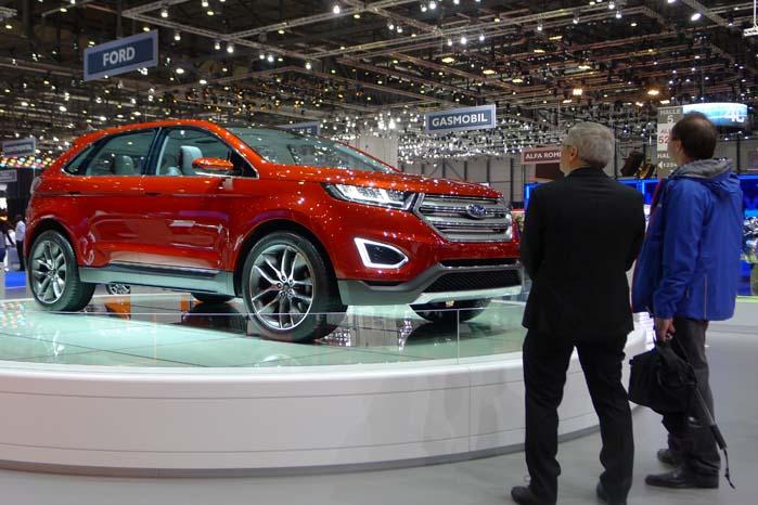 Indtil videre er denne Ford Edge et SUV-koncept, men den skal serieproduceres. Den er en af de mye globale modeller, som Ford ar planlagt at introducere i 2016.