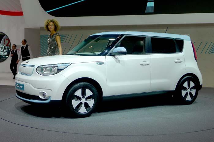 Kia optræder også i gruppen af EV-modeller med denne Soul EV.