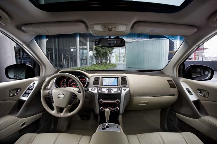 Interiøret som det ser ud i Nissan Murano i dag.