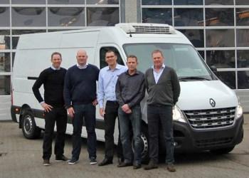 Fire erfarne folk (her sammen med sales manager Claus Rieland) skal styrke salget af Renault last- og varebiler med en på Sjælland og tre fordelt i Jylland